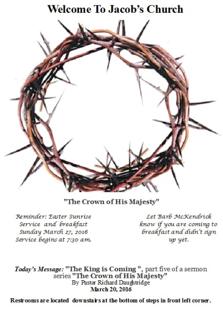 Crown of Thorns bulletin